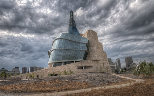 day winnipeg cloudy manitoba forks hdr theforks cmhr canadianmuseumforhumanrights nikkor1024mm morrismulvey