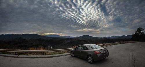 panorama car landscape showcase