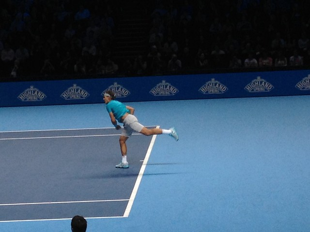 Rafal Nadal during the finals of the ATP World Tour Finals