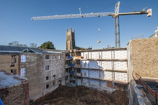 Stack Core Demolition Site and Crane | by DukeUnivLibraries