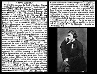 14th January 1898 - Death of the Reverend Charles Lutwidge Dodgson (Lewis Carroll) | by Bradford Timeline