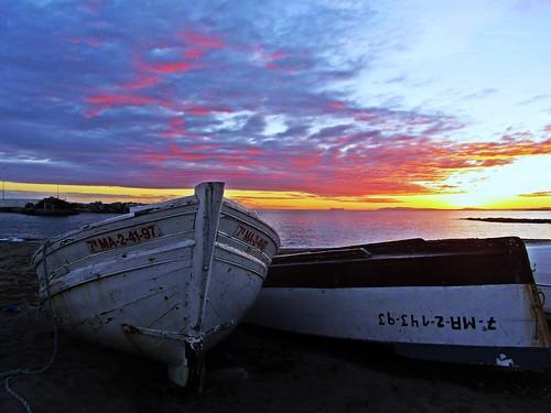 sunset españa night atardecer mar spain europe cloudy andalucia puestadesol málaga marbella