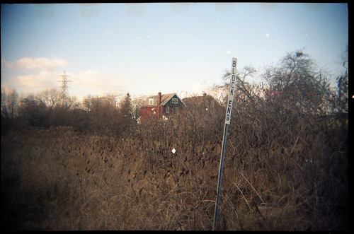 november winter house ontario canada color colour fall film overgrown field sign sport analog train 35mm toy lomo lomography december kodak hamilton plastic negative end lonely block asa 135 35 portra cheap crayola 160 amature 2013