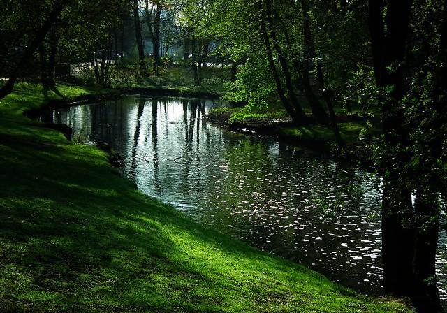yesterday morning ... Bogdanka river Sołacki Park  Poznań Poland