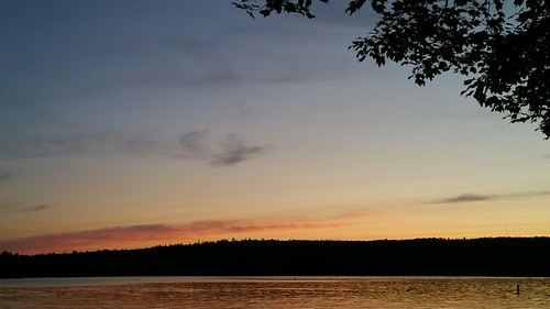 sunset lake little maine sebago