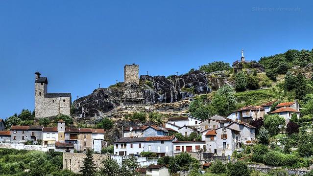 Vue du Fort d'Aubin en Aveyron