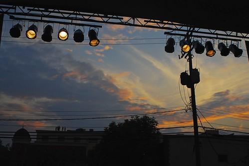 sunset ohio sky festival clouds lights evening sundown stage jazz blues creekside gahanna
