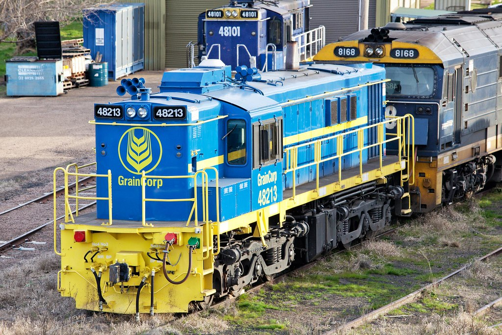 48213 at Cootamundra by Trent