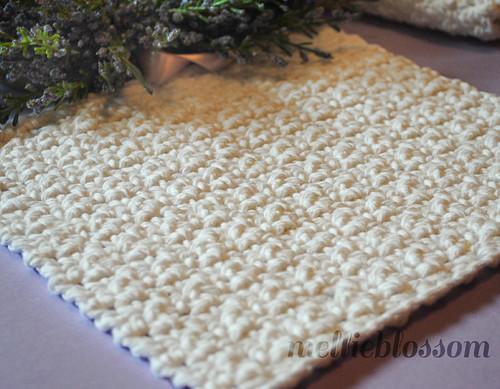 Free Easy Crochet Dishcloth Pattern | by Mellie Blossom