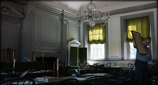 A Copy of the Original Declaration of Independence - The Assembly Room - The Independence Hall - Philadelphia, PA, USA.   by Esoteric_Desi