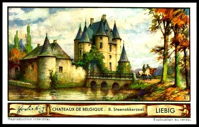 Liebig Tradecard S1288 Belgian Chateaux ~ Steenokkerzeel