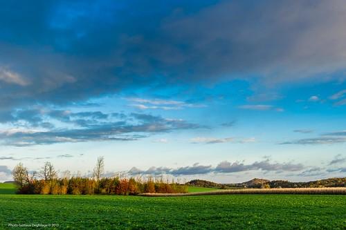 autumn automne europa europe belgique ciel nuages paysage saisons wallonie terril borinage quévy nikkor2470mmf28 régionwallonne nikond3s gustavedeghilage