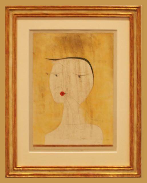 Paul Klee (1879-1940) Versiegelte Frau, 1930, Feder mit Tinte und Aquarell auf Papier auf Karton