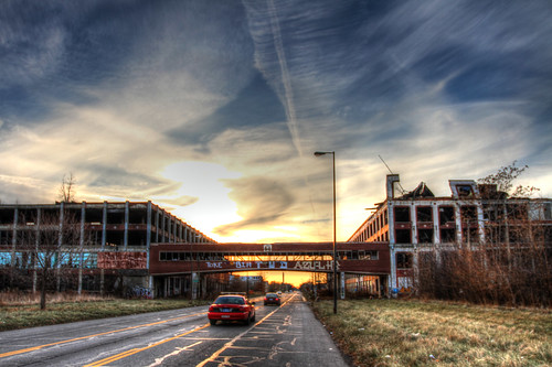 sunset abandoned detroit hdr packard newownership mikekline michaelkline notkalvin automotiveruins notkalvinphotography