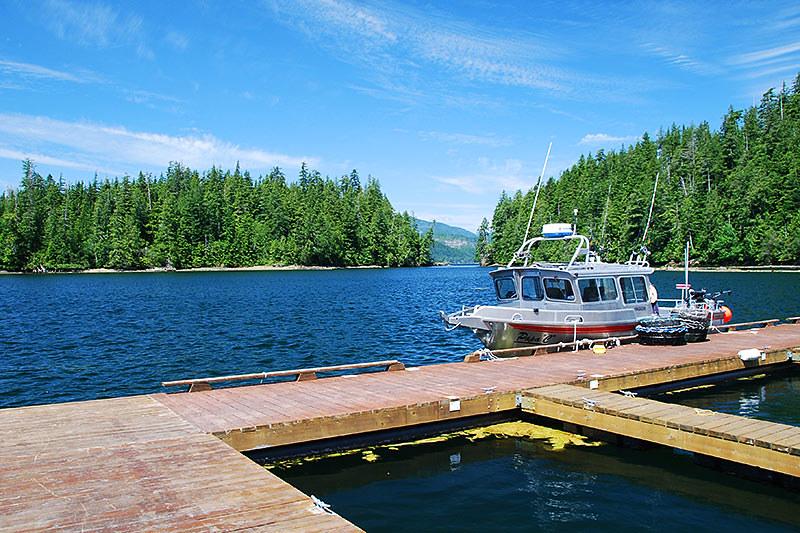 Marina and Boat Launch in Barkley Sound, Pacific Rim, West Coast Vancouver Island, British Columbia