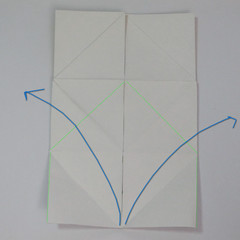 วิธีพับกระดาษเป็นรูปหัวใจติดปีก (Heart Wing Origami) 016
