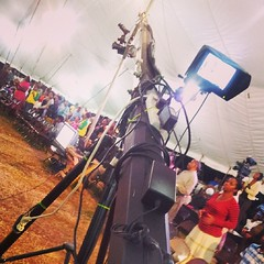 And the work never ends... #work #GA14 #mandeville #crusade #production #NCUMediaGroup #jib #camerawork #lovewhatido