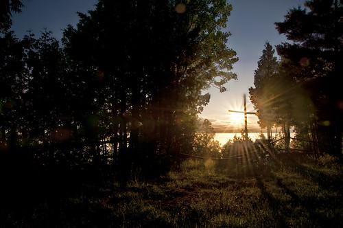 camphermosa topazadjust nikon d300 goderich ontario canada sunset clouds chapel vespers dusk worship silouette lakehuron trees holy cross church 18200mmf3556gvrii knarrgallery darylknarr knarrphotography