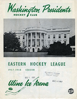 Washington Presidents 1957-58 program | by spyboylfn