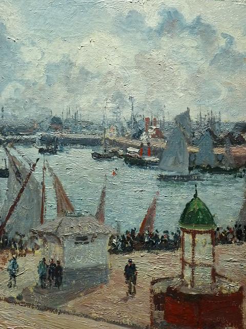 PISSARRO Camille,1903 - L'Anse des Pilotes, Le Havre, Matin, Soleil, Marée montante (Le Havre) - Détail 15