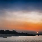 Sunset on the Ayeyarwady River between Mandalay and Bagan