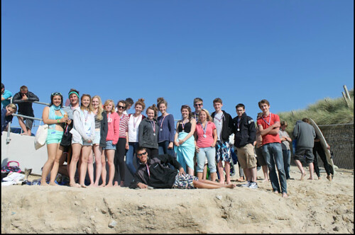 group shot on beach 2 | by RichardHuishCollege