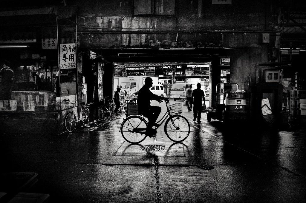 Tsukiji Man on his bike