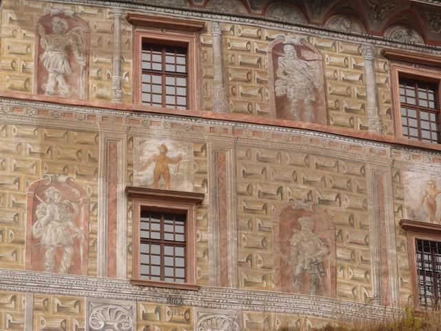 Fachada pintada en Cesky Krumlov
