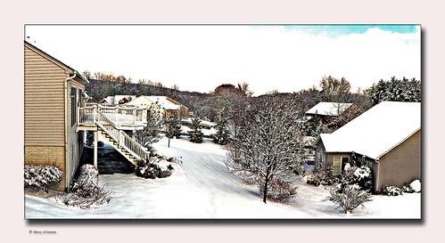 winter snow westminster landscape md carroll