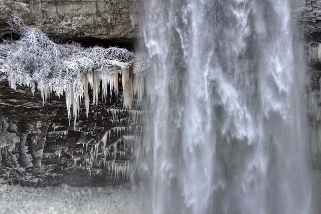 Fall Creek Falls detail 4, winter, Fall Creek Falls SP, Van Buren Co, TN