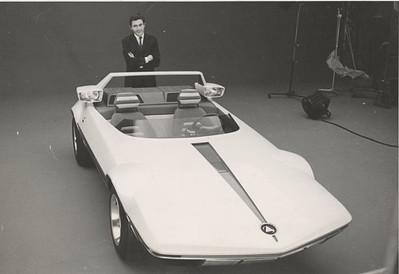 Marcello Gandini with Autobianchi A 112 Runabout