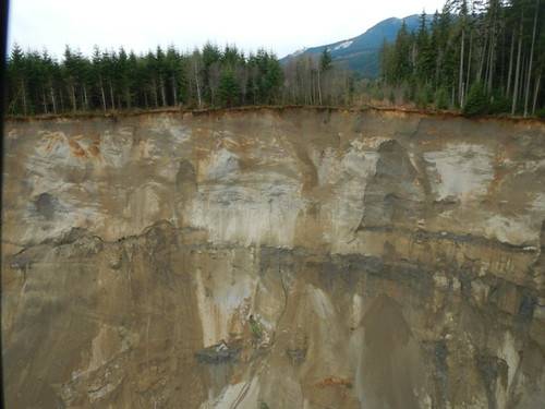 View of the hill side that gave way near SR 530 | by WSDOT