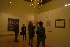 Visitantes de la exposición.