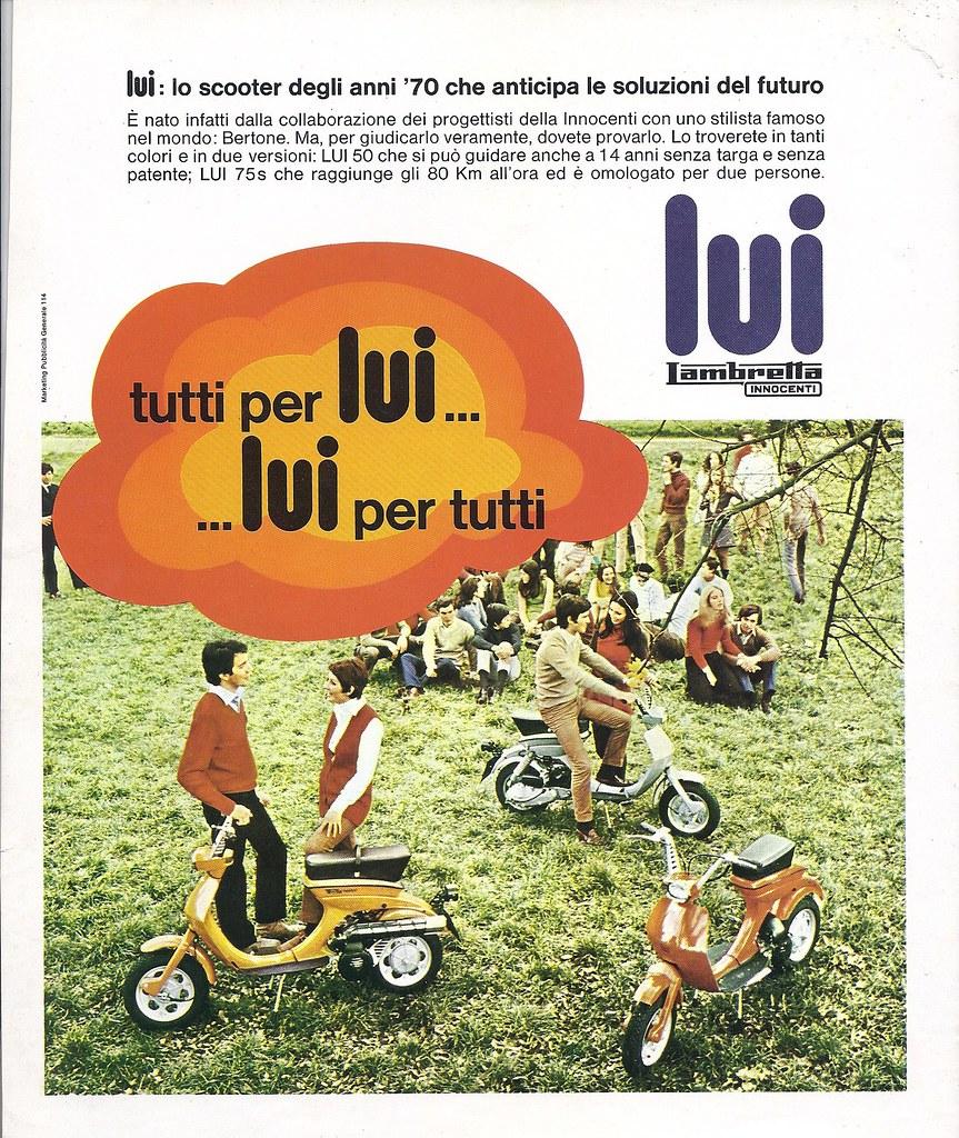 """Anni 70 Colori lambretta luna lui vega cometa: italian market """"all for lu"""