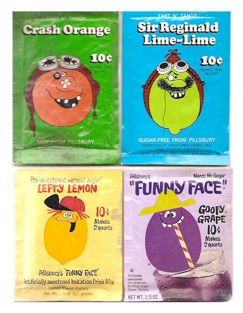 Vintage Pillsbury Funny Face Thirst Fighters Drink Packs