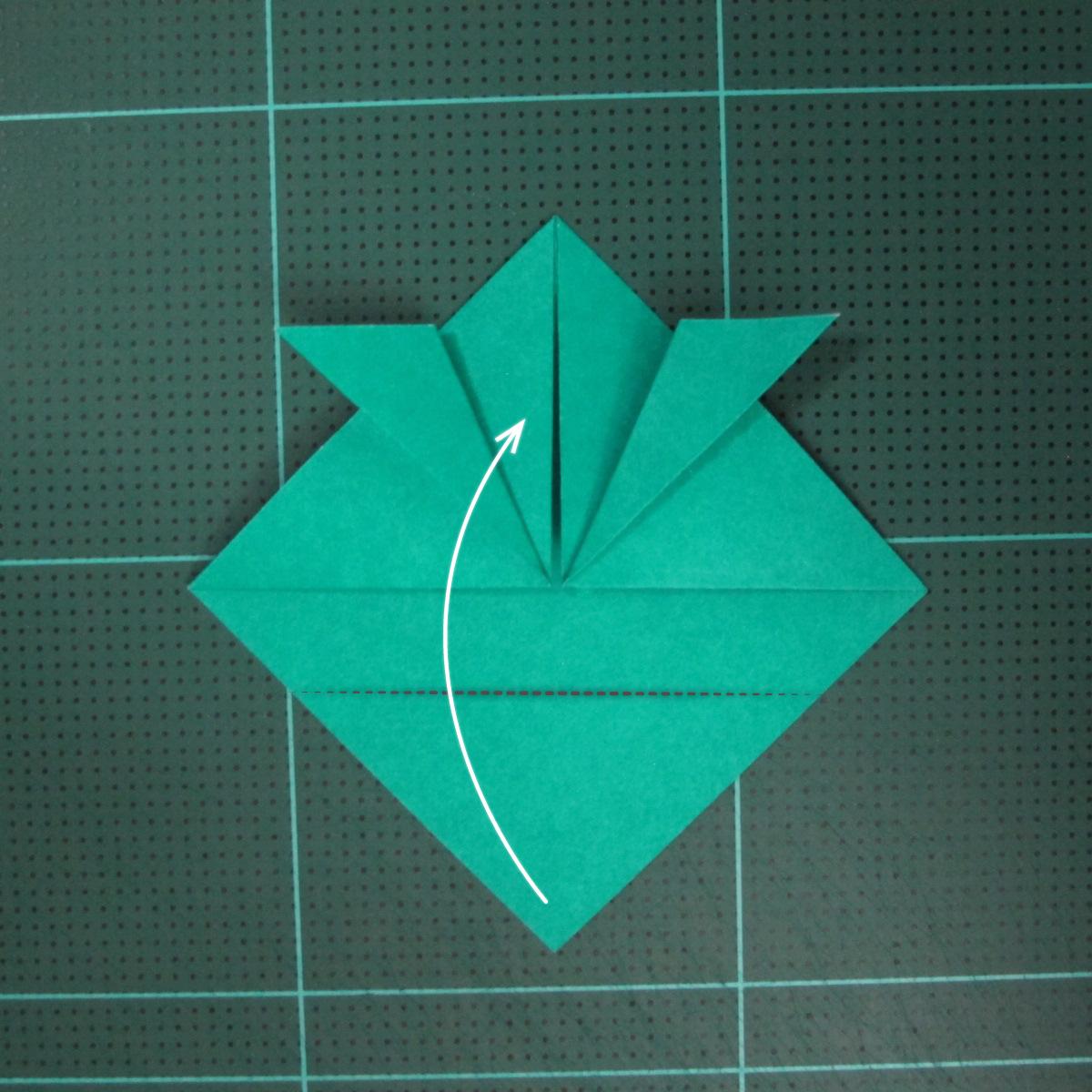 วิธีพับกระดาษเป็นรูปหมวกซามุไร (Origami Samurai Hat) 006