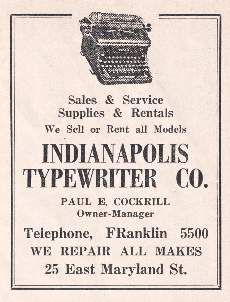 Indianapolis Typewriter Co  | Indianapolis, Indiana | Flickr