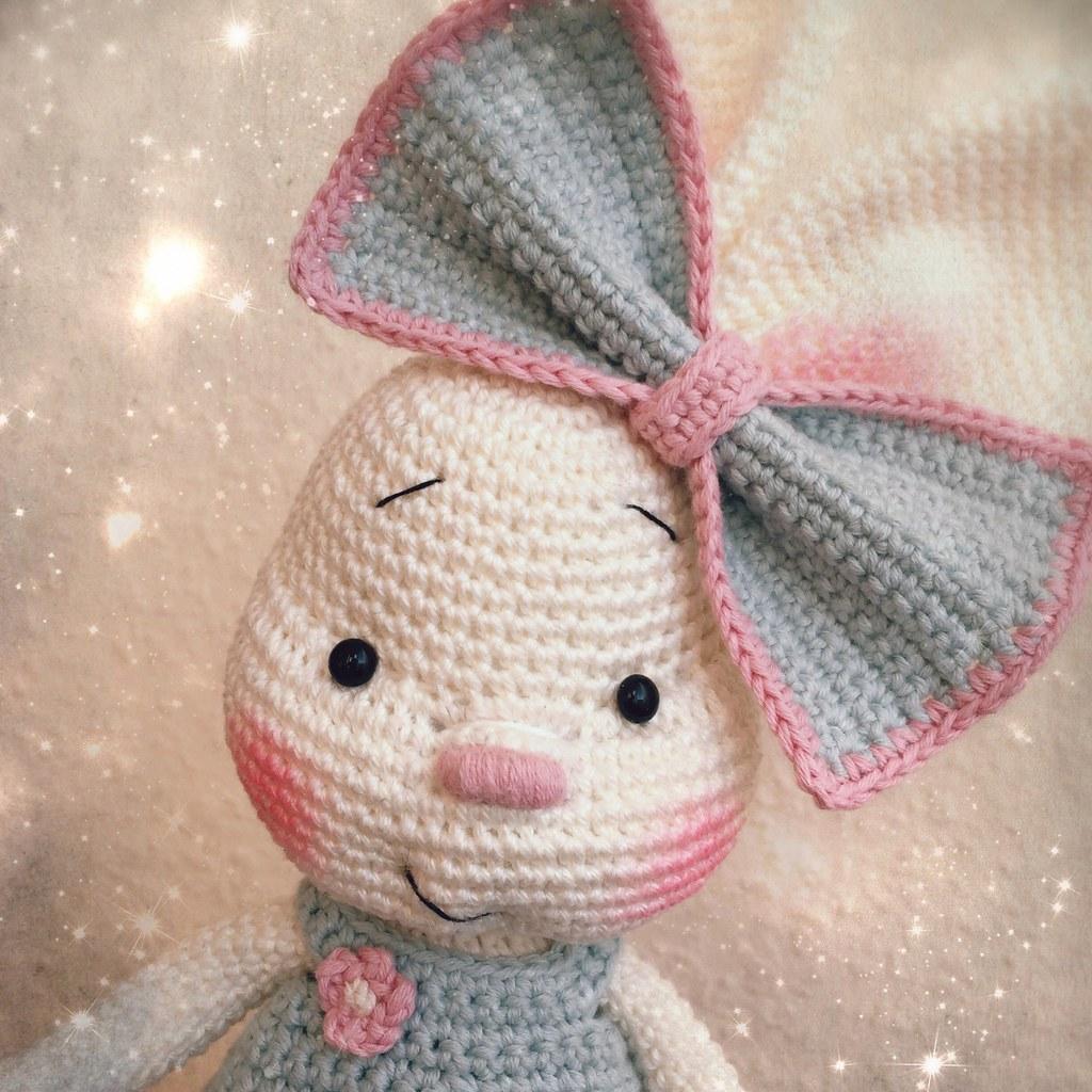 Pretty Bunny amigurumi in pink dress | Crochet rabbit, Crochet ... | 1024x1024