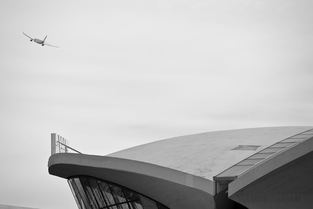 A detail of the legendary and iconic TWA Flight Center, JFK Airport NYC