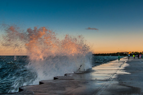 sunset lake water wisconsin surf michigan wave bank racine bestcapturesaoi