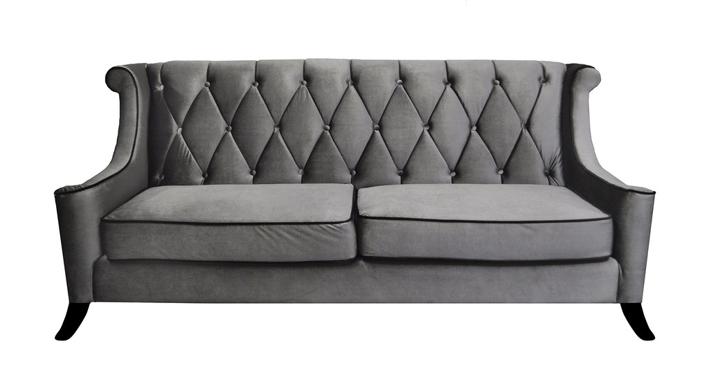 Furniture - Gray Velvet Sofa - on White | Welcome to our photo gallery! | Flickr