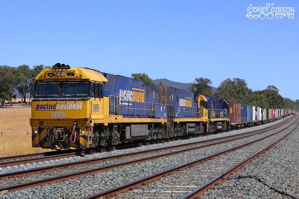 Down 3MB2 with NR9, NR10 & NR26 near Tallarook by Corey Gibson