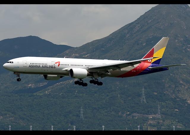 B777-28E/ER | Asiana Airlines | HL7756 | HKG