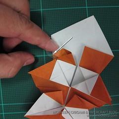 วิธีพับกระดาษเป็นรูปหมี (Origami Bear) 020