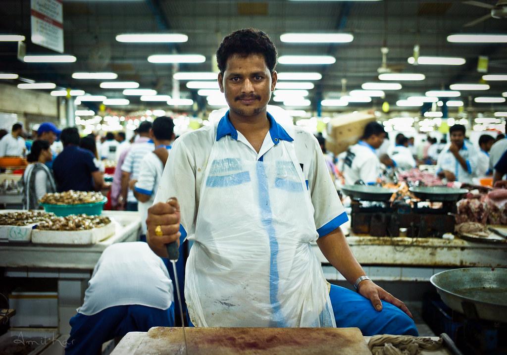 Smiling Butcher of Deira - Fish Monger - Dubai, UAE - Leic