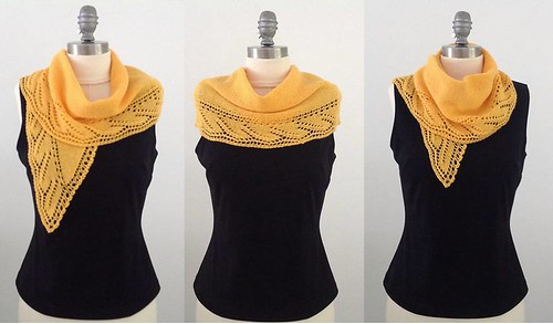 Composite - Yellow Dawn shawlette | by saashka