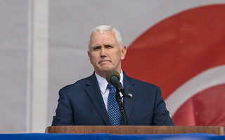 Vice President Mike Pence addressing the March for Life | by JamesMcNellis