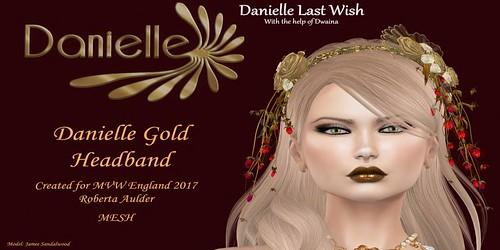 Danielle gold headband