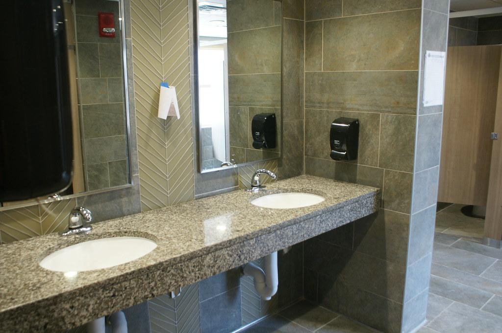 Stangel Bathroom - Large Sink   Green Bathroom   Texas Tech ... on