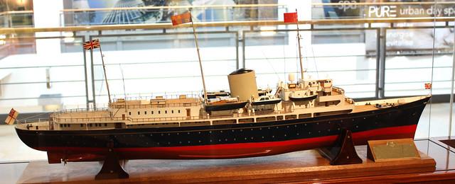 HMY Britannia model
